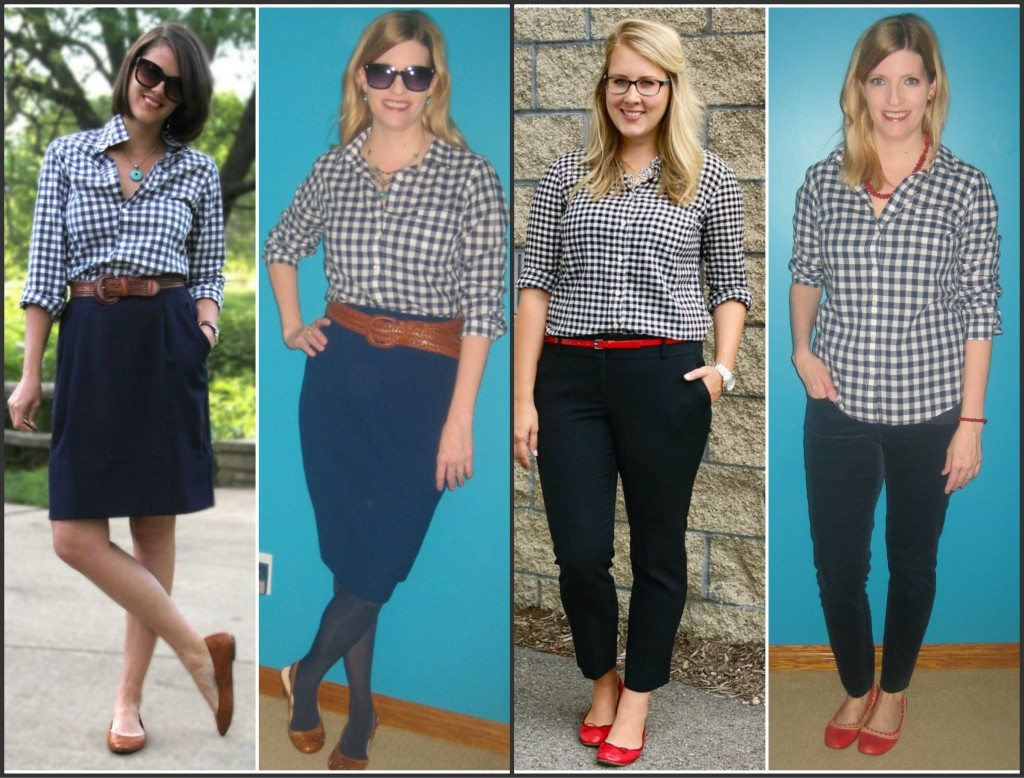 I started copying pins on March 2nd with my $4.20 J Crew gingham!