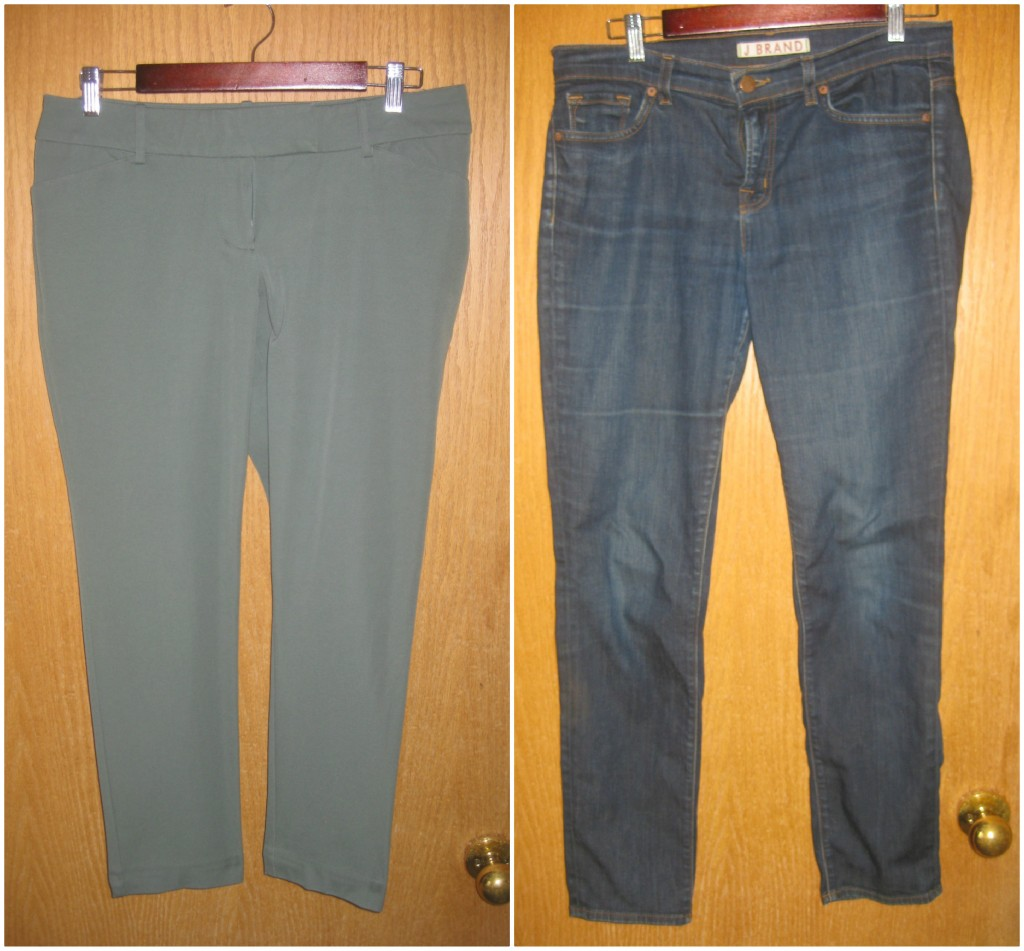 6. Sage ankle crop pants new-with-tags $5, 7. J Brand denim B.T. (Before Thrifting)