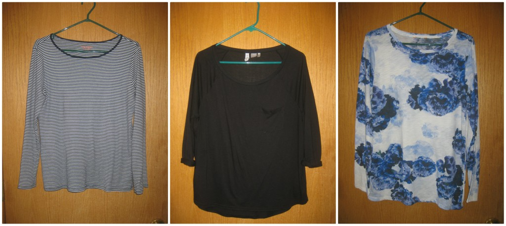 3 long sleeve tees ($3.50, $5 and $2)