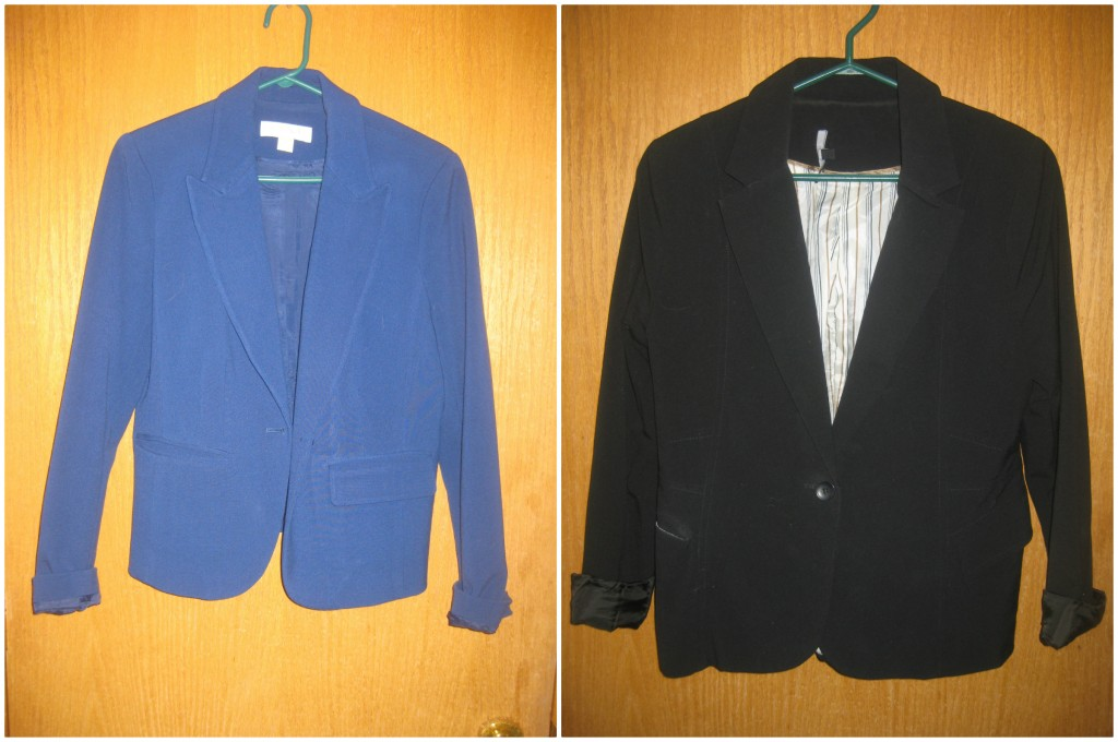 And last but not least, 2 blazers ($7 each)