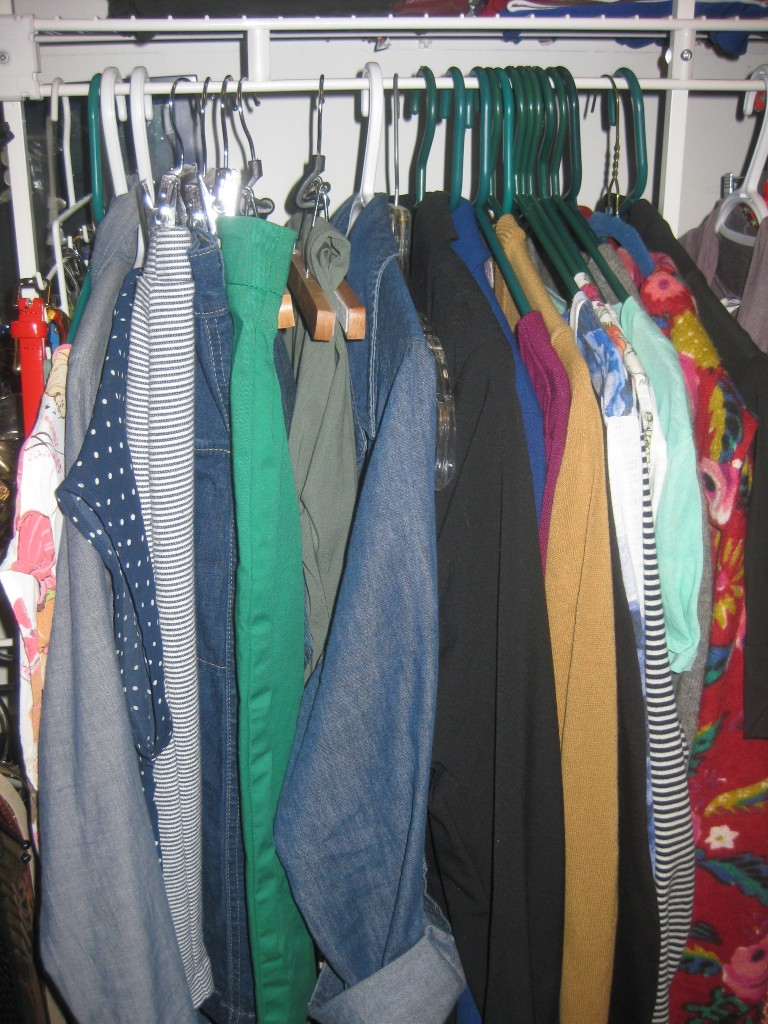 My entire April 10-Item Wardrobe