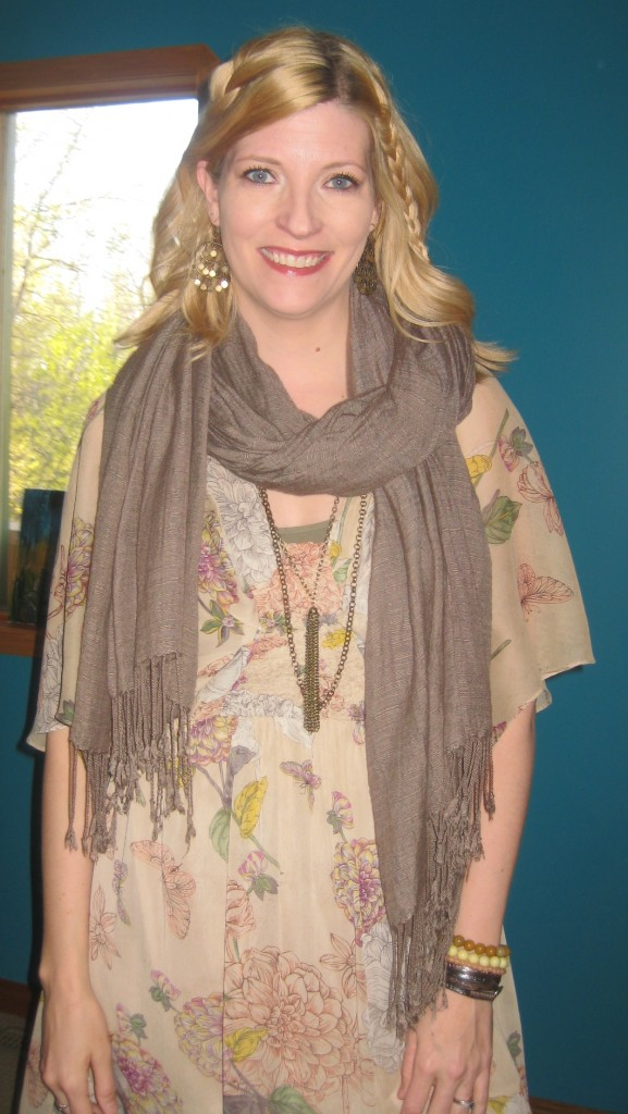 Oh yeah, just adding my fringe-y scarf to be even MORE boho.... actually, I was cold.