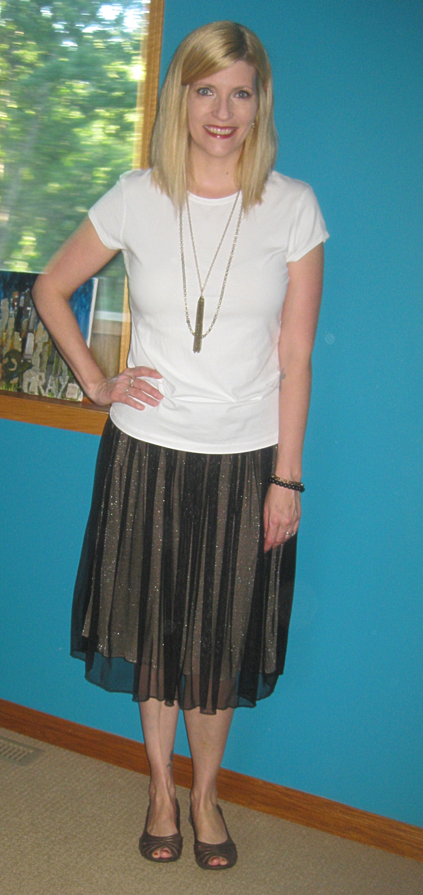 Tee and tulle make for a happy Friday!