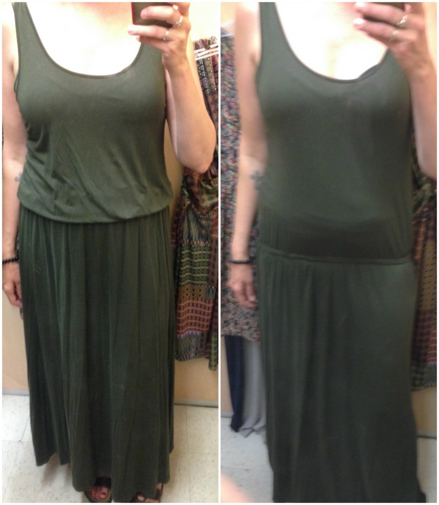 I so wanted this Kenneth Cole maxi dress to work but there was just too much fabric around the middle.