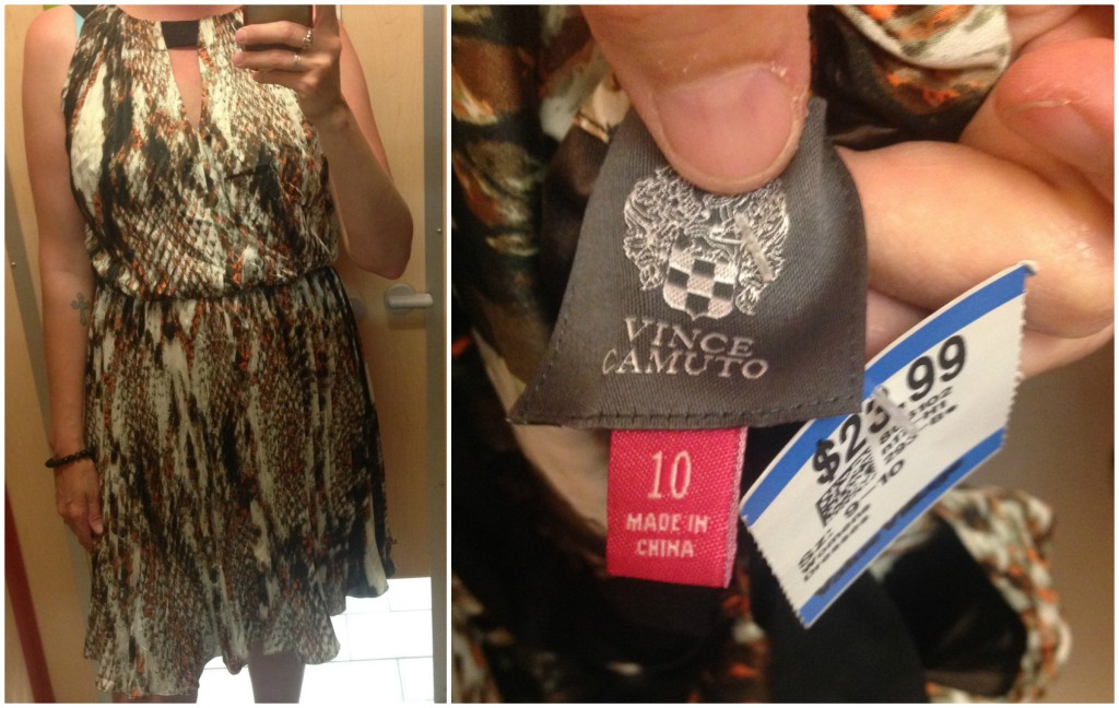 Nice dress, good condition but still.  That's too much for a second-hand dress.
