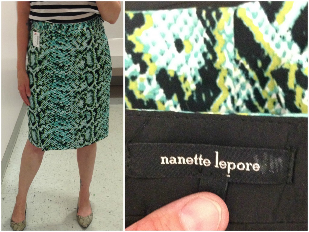 I found a Nanette Lepore skirt in perfect condition and the perfect LENGTH!