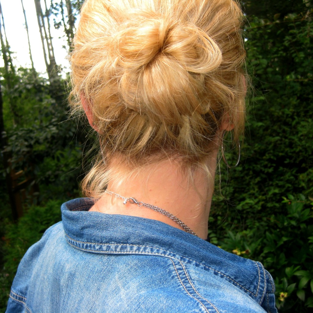 Just FYI, I did put *some* effort into my hair making the oh-so-impressive messy bun instead of the typical ponytail.