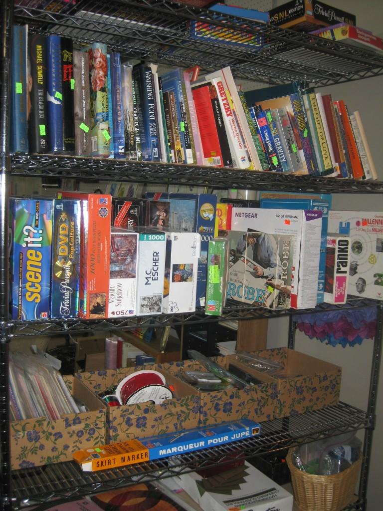 Toys, scrapbooking supplies, etc.