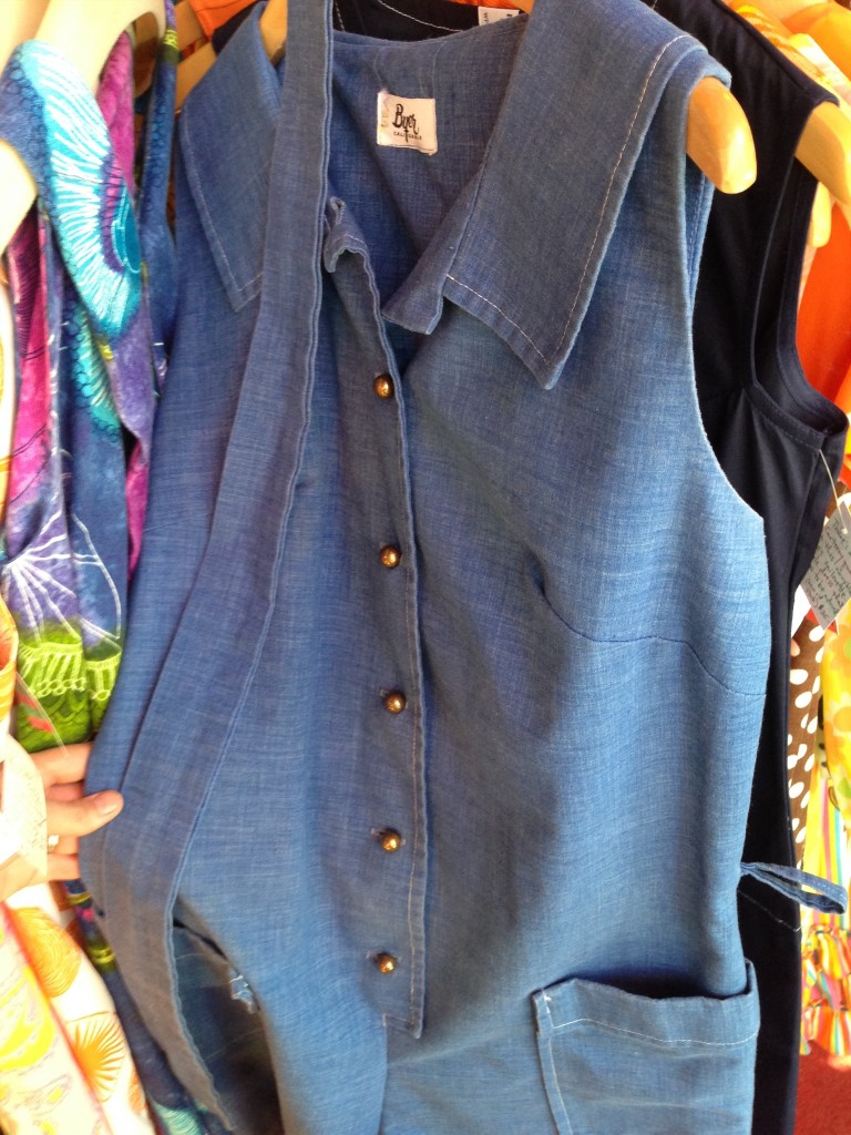 Vintage chambray romper... not in my size.  Boo.