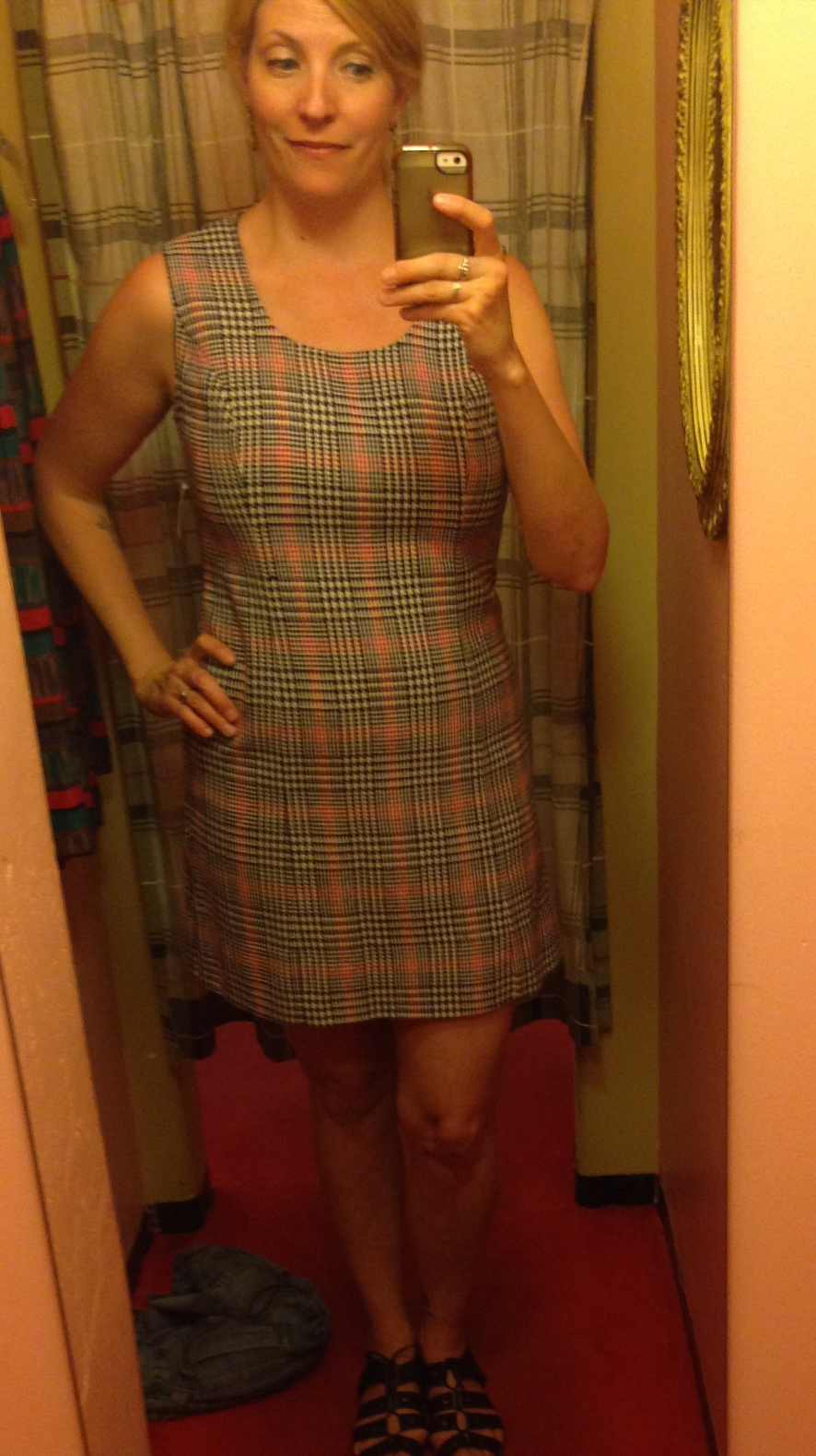 Wool dress - so very cute but so very short.