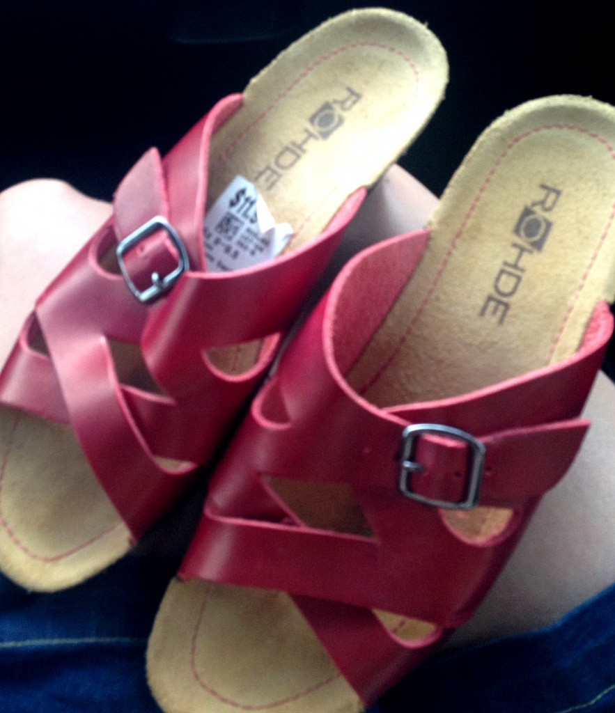 Rohde leather sandals unworn for $8.40