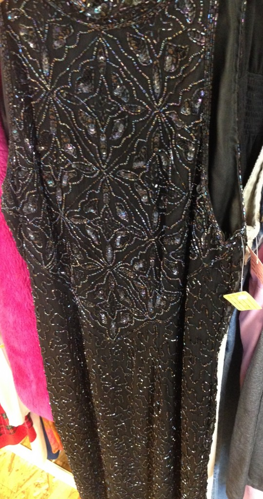Need an evening gown?  This beaded beauty was in perfect condition for