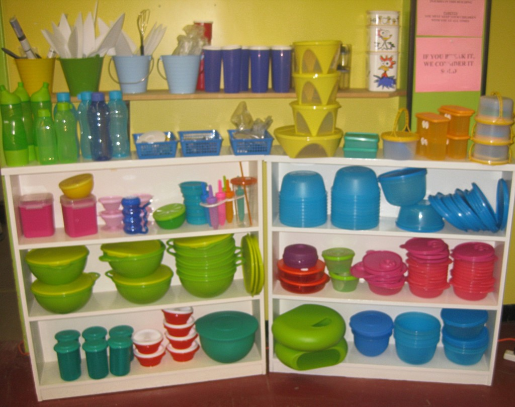 Quite the Tupperware display!
