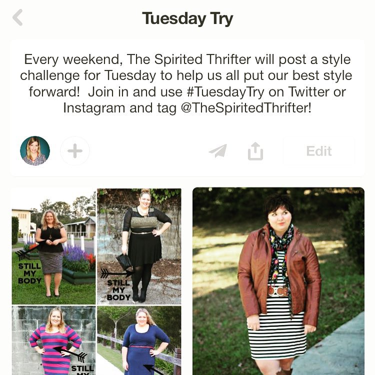 This year, the #MondayStylePrompt is moving to Tuesdays for the TUESDAY TRY! Same idea - I will issue a prompt on the weekend which gives some time to browse your closet or go thrifting (and you will be able to hit the Monday sale days!). The prompt might be a trend, a colour combo, a style personality (and feel free to offer suggestions)! Then give it a try on Tuesday, tag me on Instagram @thespiritedthrifter, Twitter @spiritedthriftr or Facebook (The Spirited Thrifter) and use the hashtag #TuesdayTry. It's like choosing your outfit with your sister! More fun together! AND now that @everywearyeg has moved to Tuesdays, if our themes/prompts overlap, use the #everywearyeg hashtag as well for a chance to be featured in the @edmontonjournal! Check out my Pinterest board for weekly inspiration on the prompt! This week's Tuesday Try is HORIZONTAL STRIPES! A basic that many woman still shy away from! Time to experience the awesomeness of stripes! Tune in on Tuesday on the blog for all kinds of stripey chit chat!!