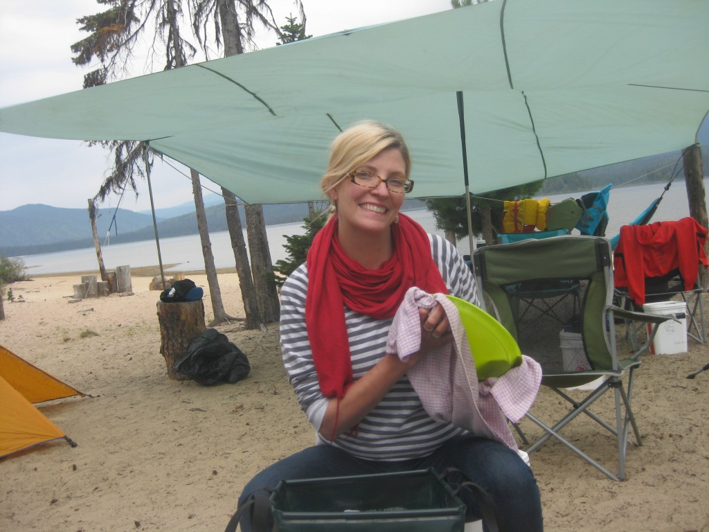 Doing dishes on the beach... #domesticgoddess