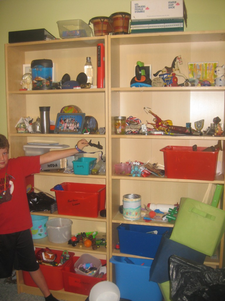 The photo does not do justice to just how much stuff is on those shelves.
