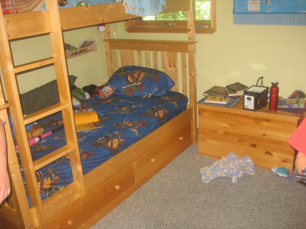 View of the bunk beds.
