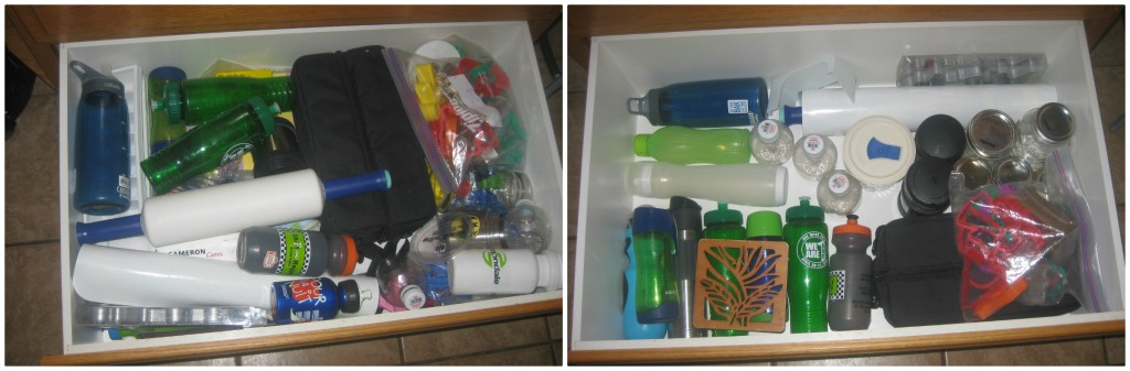 The bottom drawer with 1000 cookie cutters that I never use amongst other things.