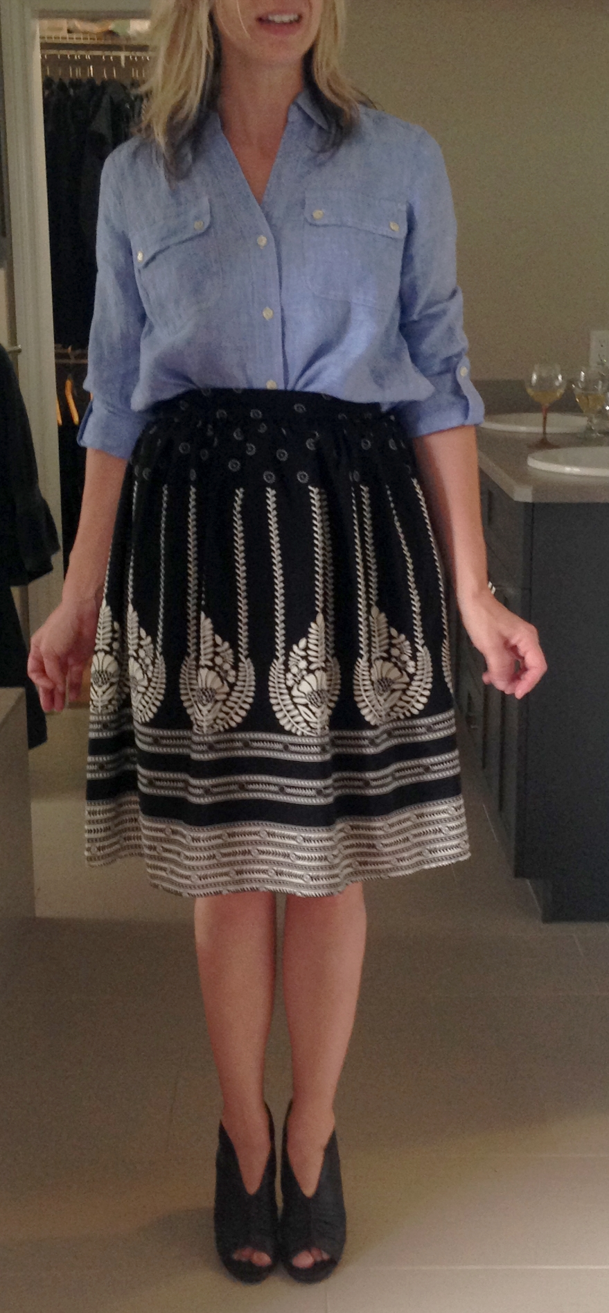 For starts, tuck it into any one of your 400 hundred black-ish skirts to instantly look like a Pinterest model.