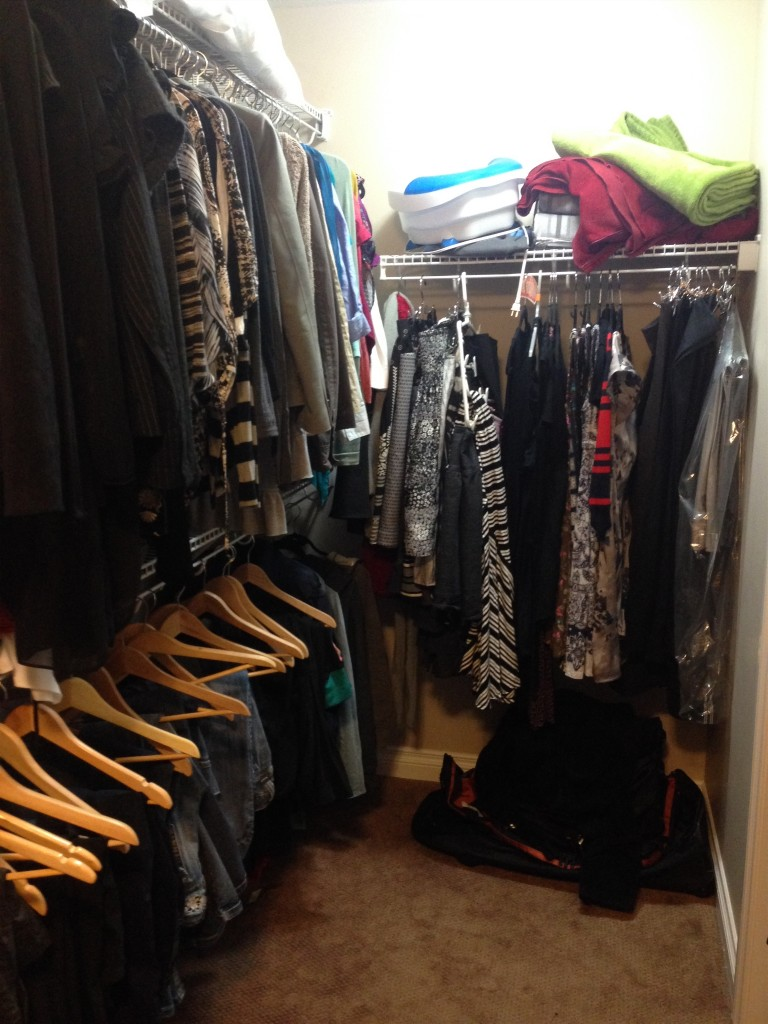 Jodi's closet... (at this point, I'm realizing I'm in denial thinking that the amount of clothes I have is average.)