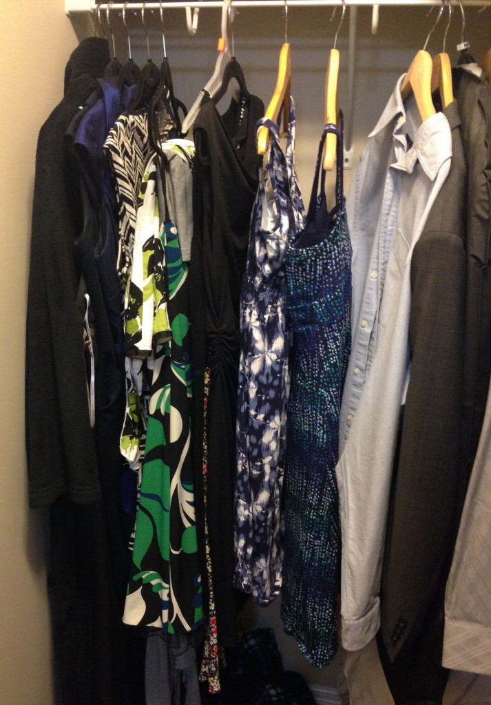 Jodi, these dresses over here hanging with the boy-clothes want to go out with a knotty chambray!
