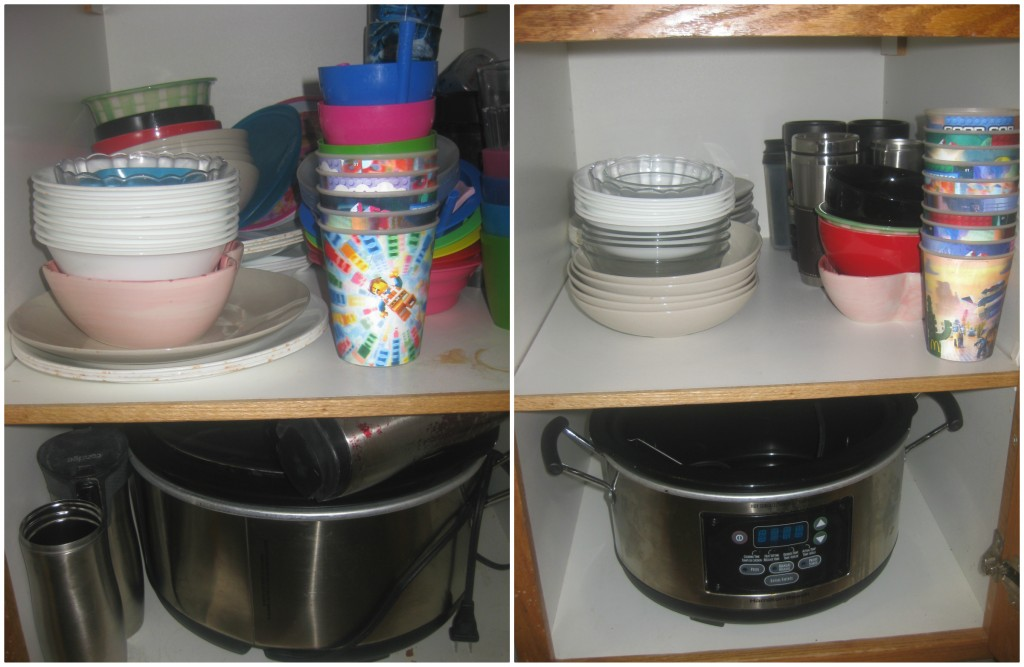 I made a bold decision and got rid of all our plastic dishes except the Lego cups. AWESOME! I will no longer have to try and cram my travel mugs around my crockpot - and they need to be easily accessible because I'm now a hockey mom AND a dance mom.