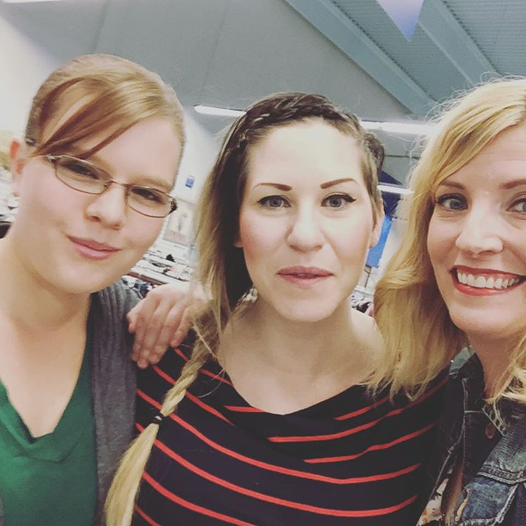 Goodwill gals! Me, Ellen and Janelle at @goodwill_ab this morning having tons of fun with grade 8 girls who are involved in an amazing sustainability project that I can't wait to share!! Thanks for the tour and hospitality @goodwill_ab!  You are awesome!