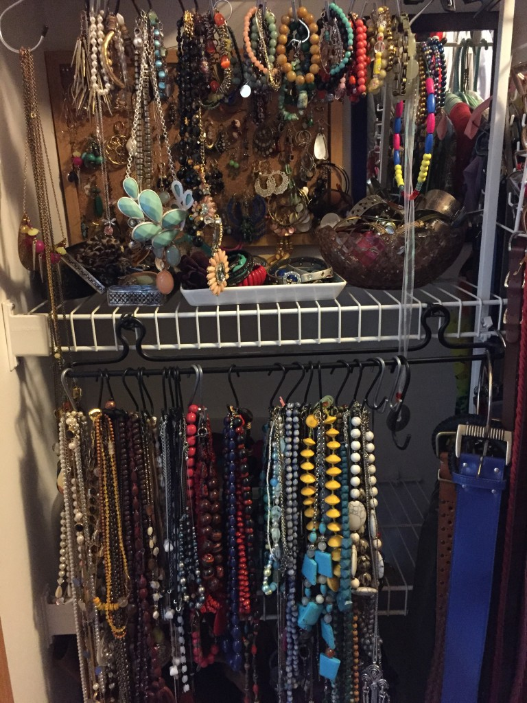 Next up: accessories! I have a lot but I've been collecting for my whole life and I wear accessories every dang day so NO JUDGMENT. Except my accessories had become slowly mixed up and messy...