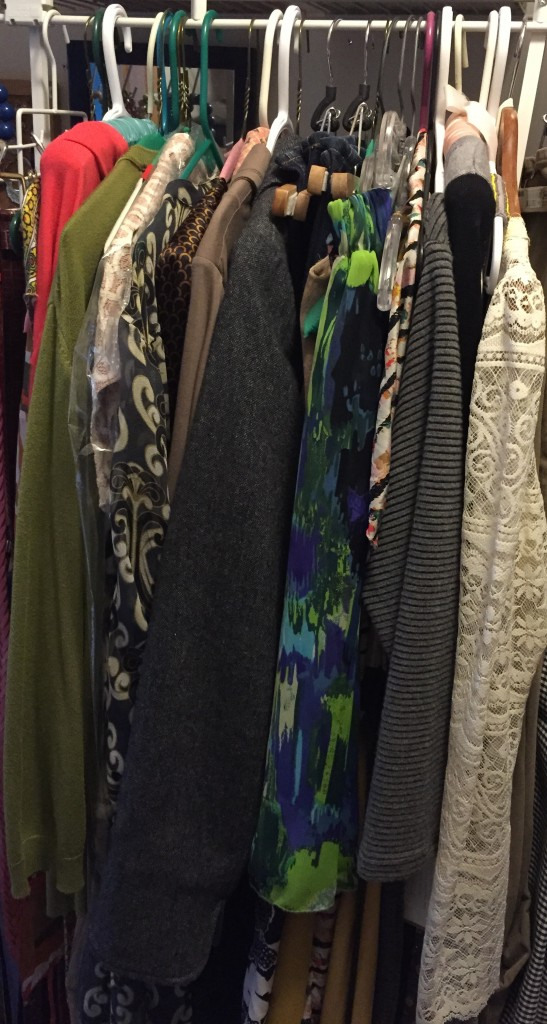 "Though I culled this section, I still have a ""queue"" of pieces waiting to be worn and blogged. It makes me happy."