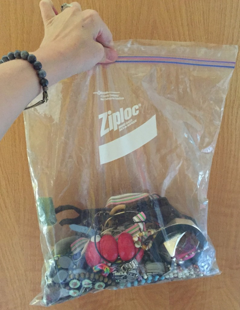 Okay, maybe not a ton, but my bag of jewelry for donation weighed 4.2lbs!!!