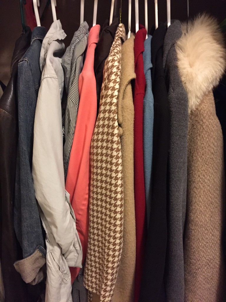 This is all my outerwear except my puffer coat and snow pants. I'm so relieved Kondo doesn't do a seasonal switch over - I always mean to but it doesn't always happen and I spend energy feeling bad about that instead of celebrating NOT wasting time on it. No more.