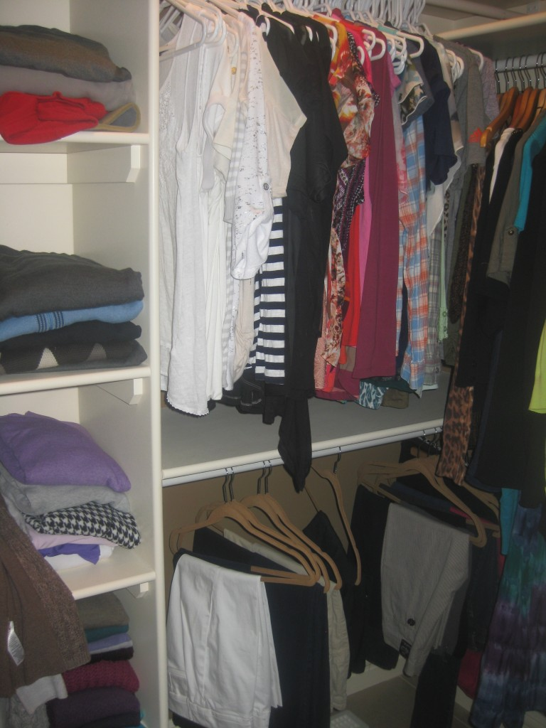 Rachelle's closet before we started.