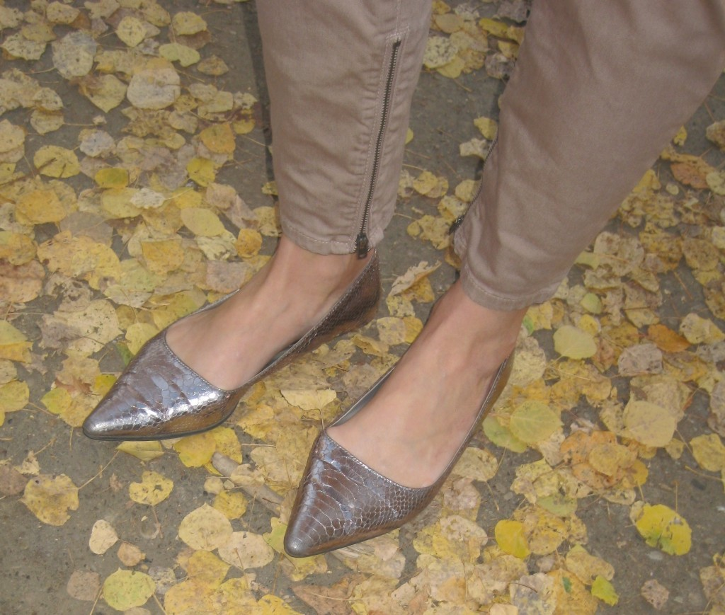 Pointy metallic flats $7.70