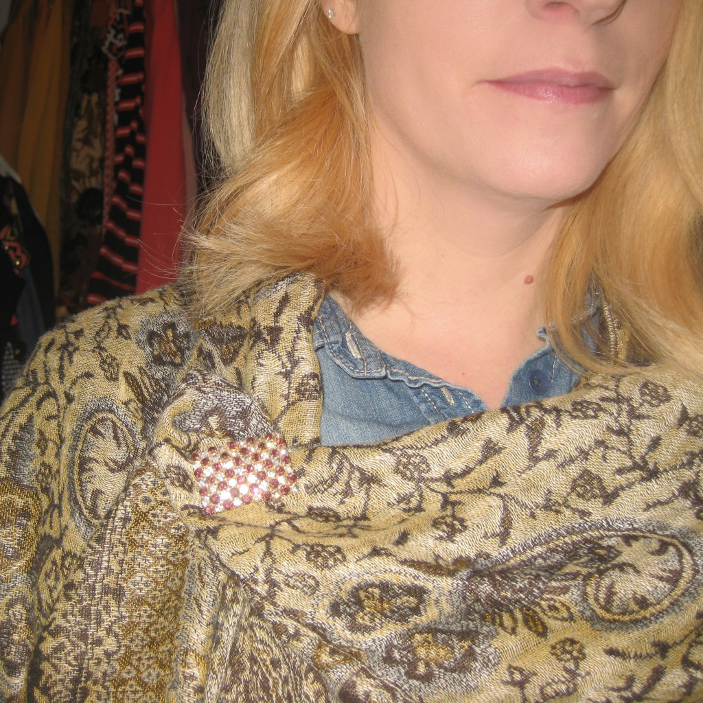Scarves with Brooches