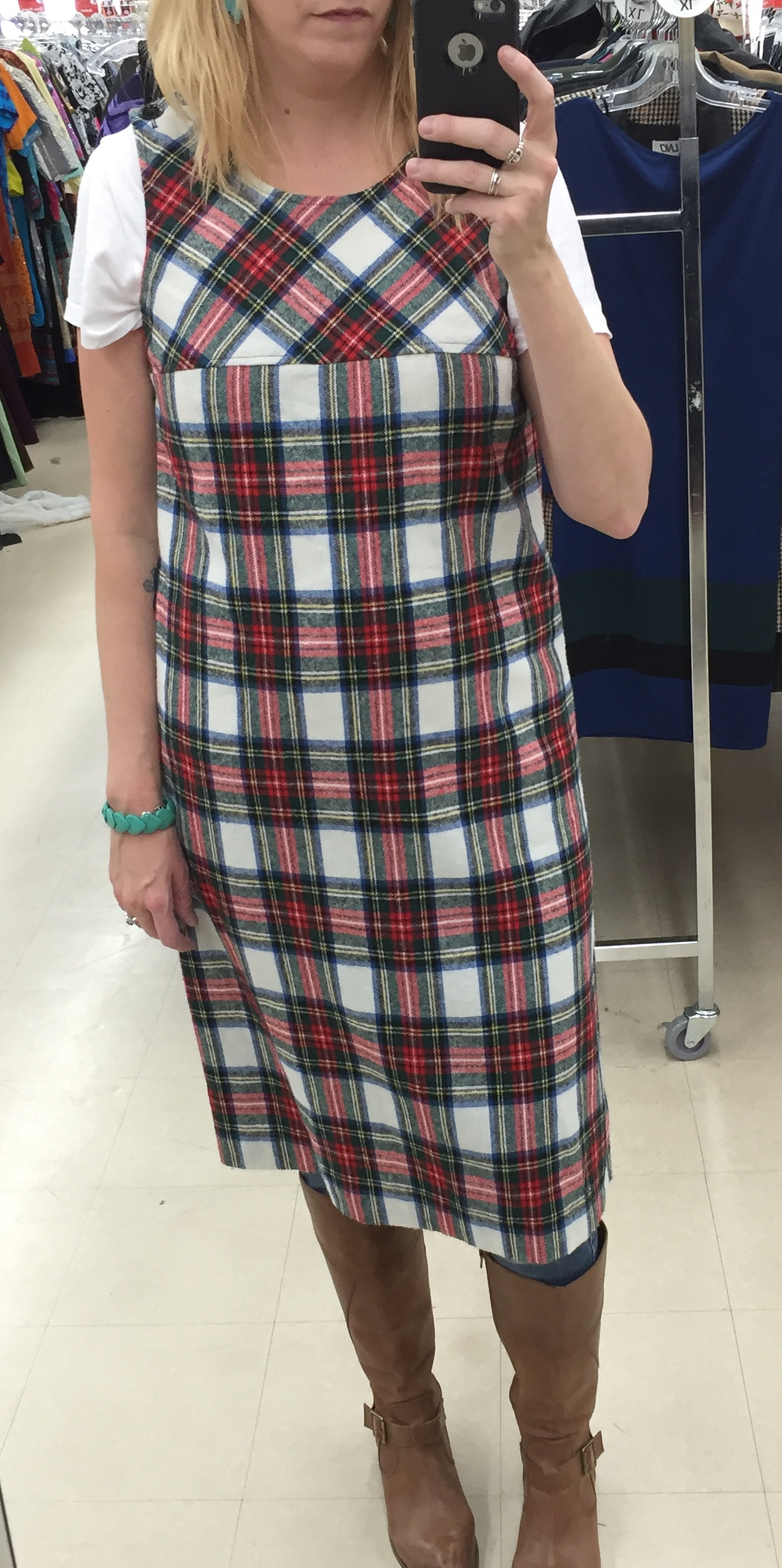 This plaid dress was $5.60