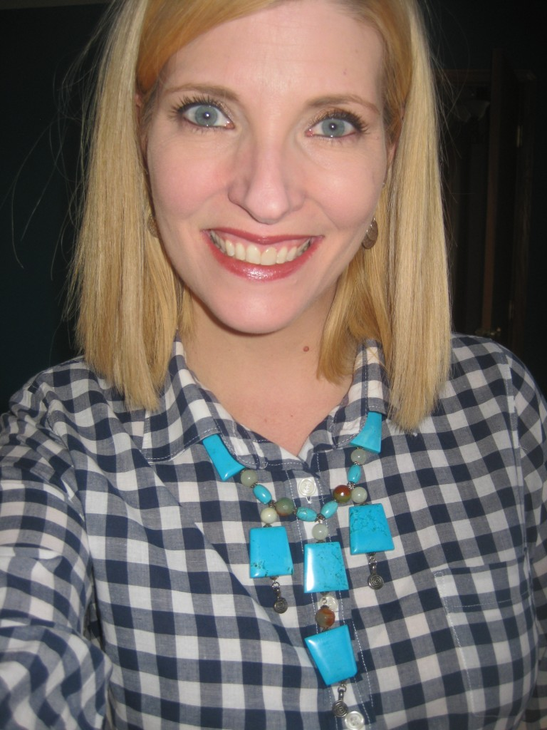 All the style bloggers are doing it, so can I. JCrew gingham top $4.20.