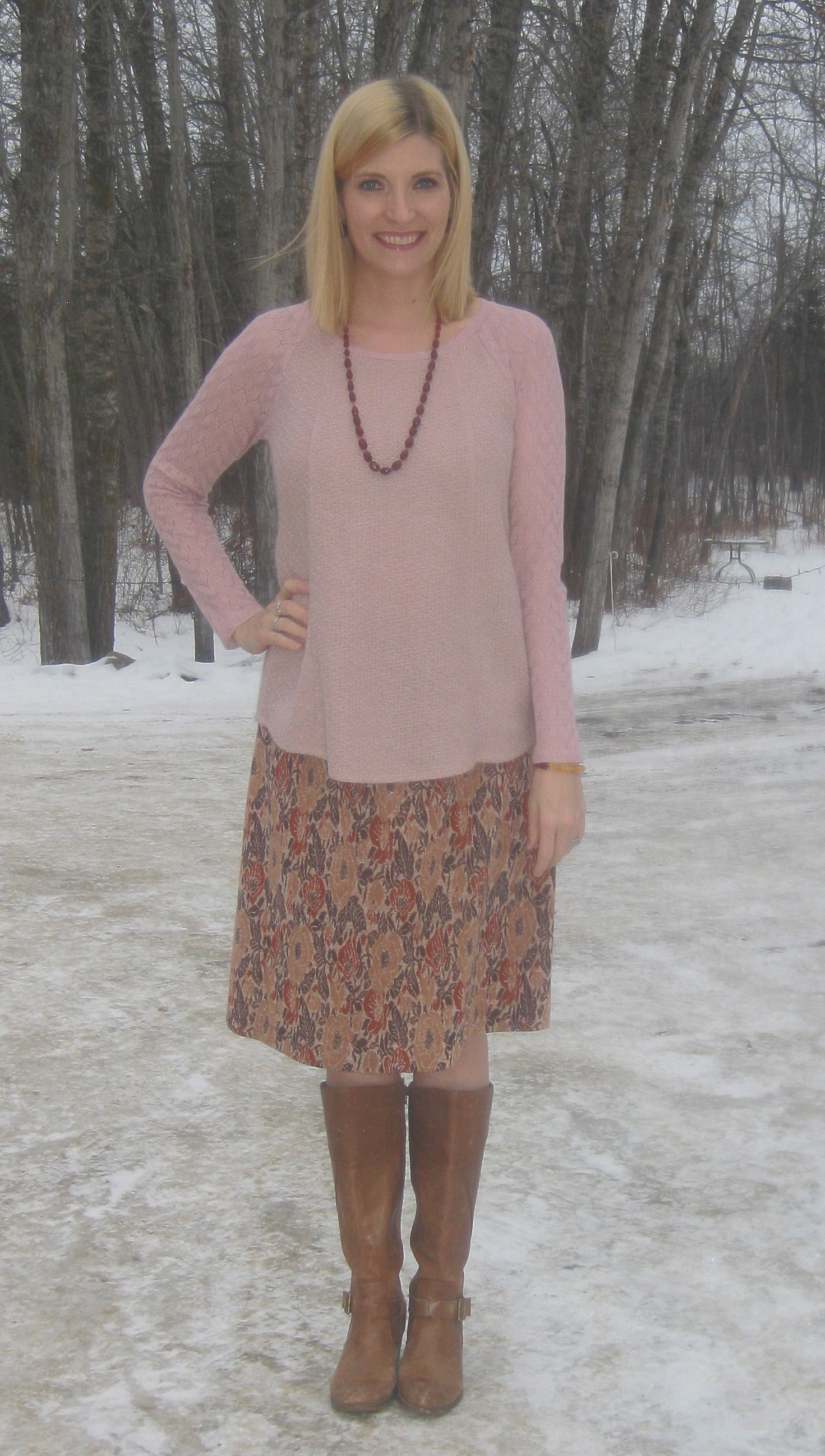 Vintage skirt $5, Miz Mooz boots $7.50 plus accessories from my collection.
