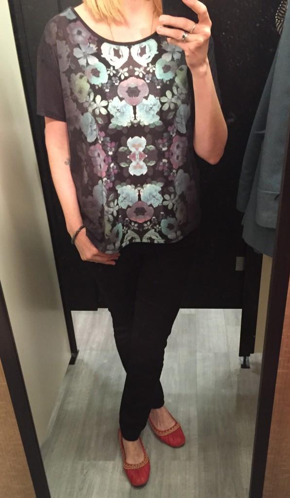 Dark floral tee H&M $7