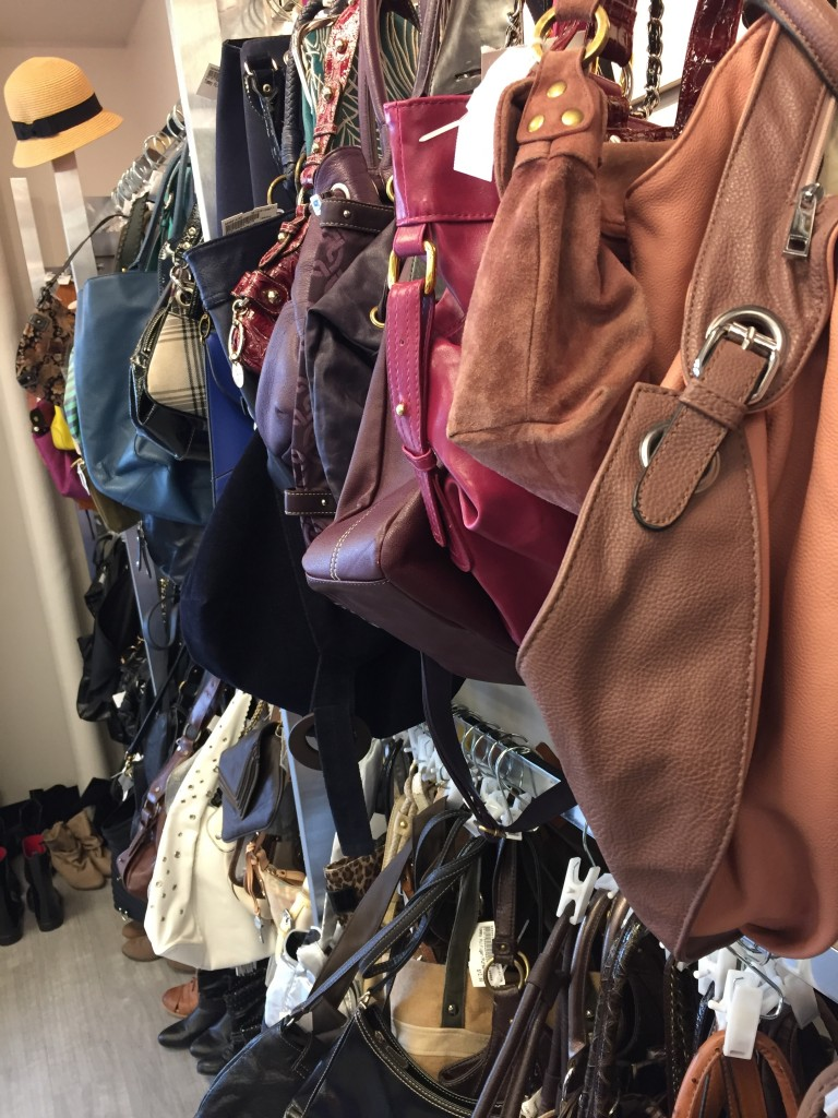Great selection of purses, scarves and accessories.