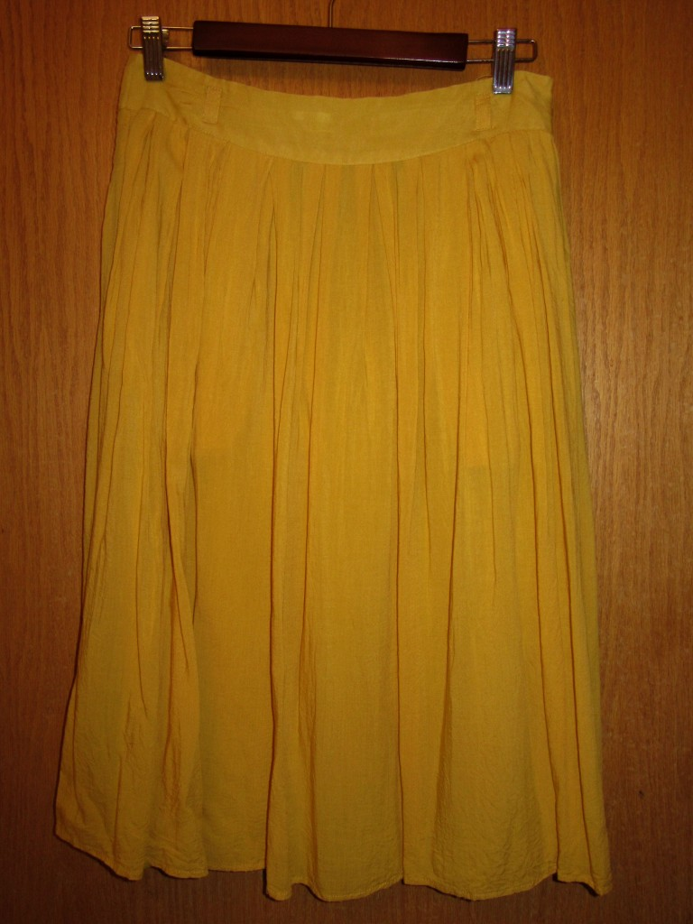 Mustard skirt $7 - AT LAST my heart's desire fulfilled!!