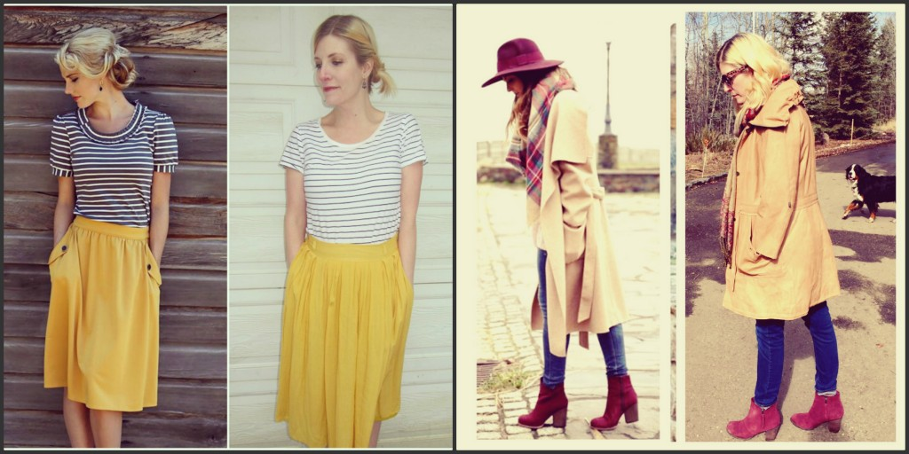 Perhaps my favourite post of all time happened with this mustard skirt and I only shared one of eight pinspired looks on Instagram, so if you missed the rest, go back and look! As for the 25th, I learned dog trumps hat every time!
