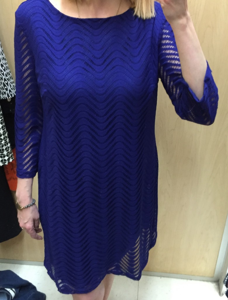 Another gorgeous dress in a gorgeous colour!  Loved the texture but it was a bit big (not a size 15/16 like the tag said!) and priced at $22.  Too much for my budget for how much I'd wear it.