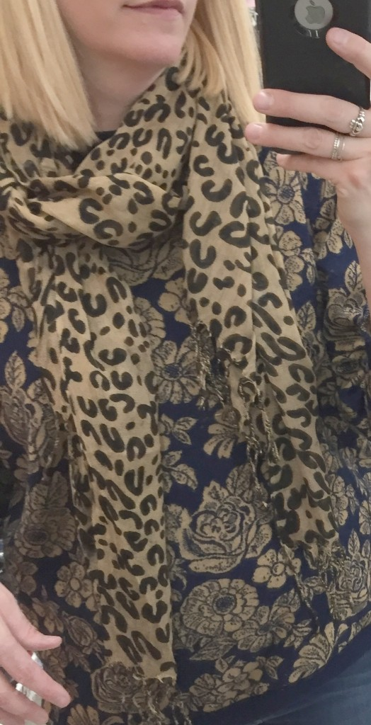 I did nab this leopard print scarf because I don't have a summer-weight leopard print scarf! SCORE!