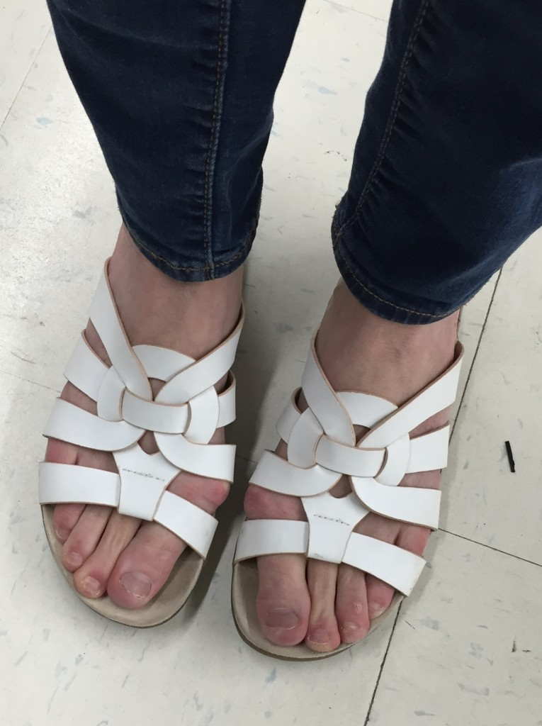 I liked these sandals so I wore them around the store a bit... You'll see later...