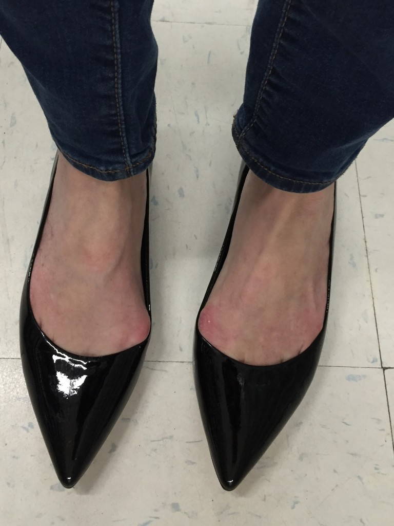 Same story for these otherwise-perfect patent pointy toe flats. :(