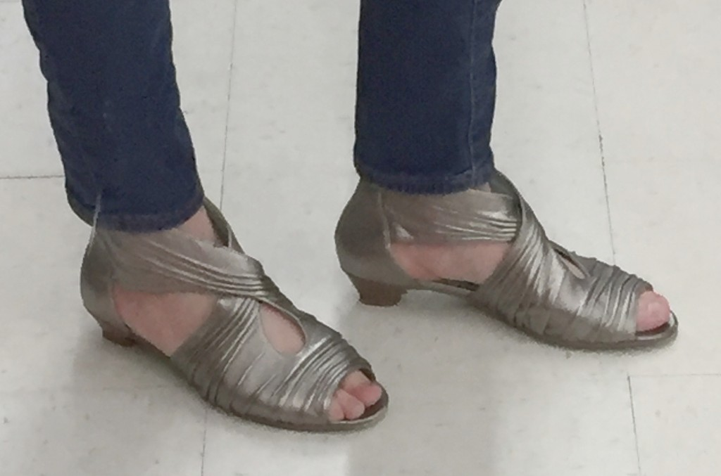 This pair had a gladiator sandal vibe, were unique and in great condition for $7.70.  I liked them as an alternate to the lace-y shoes that every blogger seems to be wearing these days.