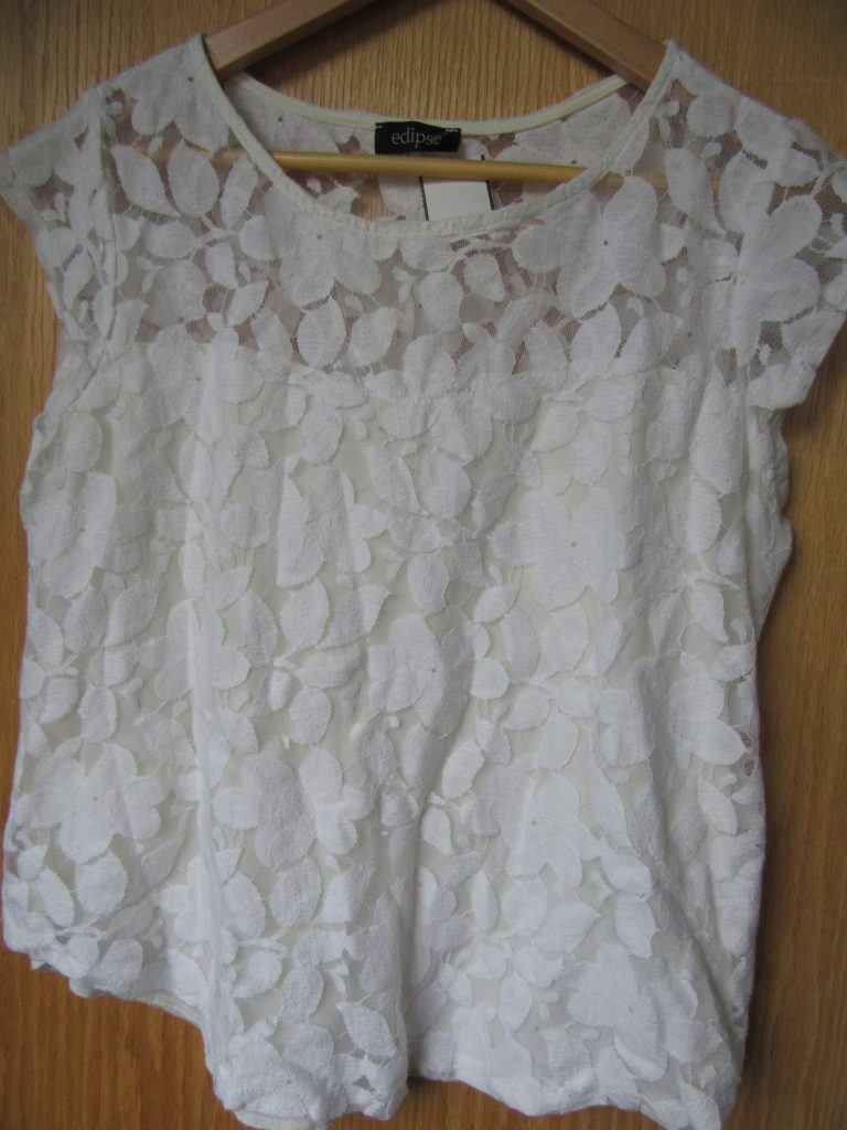 "I love lace white top - like an elevated tee, a ""basic +"" !"