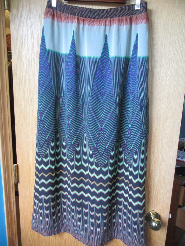 ANOTHER Anthro-brand skirt in perfect condition and the perfect length for me!  I LOOOOVE it, and it was only $4.90.