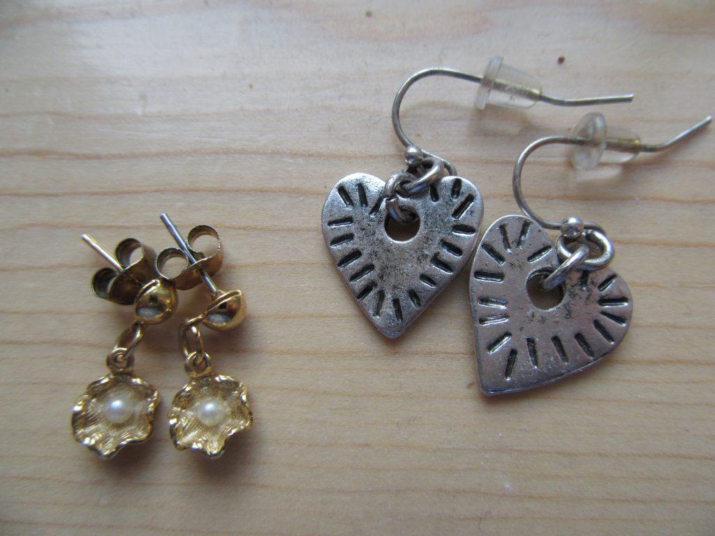 Little earrings for a dollar a piece.