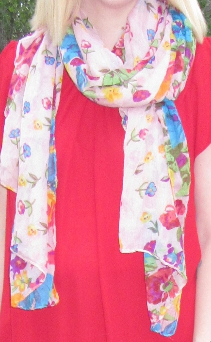 I wrapped up the month with this pretty blush floral scarf for $4 - I couldn't resist the colours!!